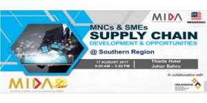 "SUPPLY CHAIN CONFERENCE FOR SOUTHERN REGION (AUG 17, THUR)<br>南部区""供应链的发展与商机"" 研讨会 8月17日 (星期四)"