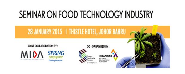 SEMINAR ON THE FOOD TECHNOLOGY INDUSTRY   (JAN 28, WED)<br>食品工业科技研讨会 1月28日(星期三)