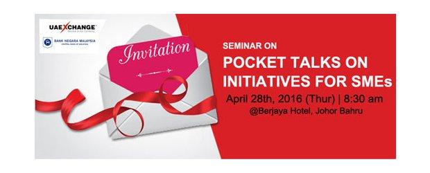 "POCKET TALKS ON INITIATIVES FOR SMEs (APR 28, THUR)<br>""提供给中小企业的举措""座谈会"
