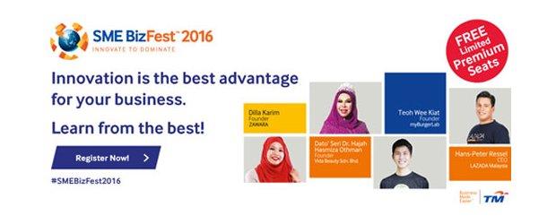 "SME BizFest™ 2016: INNOVATE TO DOMINATE [JOHOR] (MAY 17, TUE)<br>""2016 中小企业商务展:率领企业走向科技研讨会 [柔佛]"" (5月17日, 星期二)"
