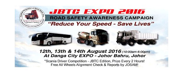 "JOHOR BUS, TRUCK & COMPONENTS EXHIBITION (JBTC EXPO) 2016 (AUG 12, FRI)<br>""2016 柔佛巴士、卡车及零部件"" 展览会  (JBTC EXPO)"