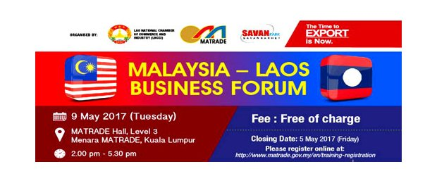 MALAYSIA - LAOS BUSINESS FORUM (MAY 9, TUES)