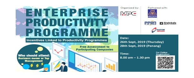 ENTERPRISE PRODUCTIVITY PROGRAMME (SEPT 26, THUR)